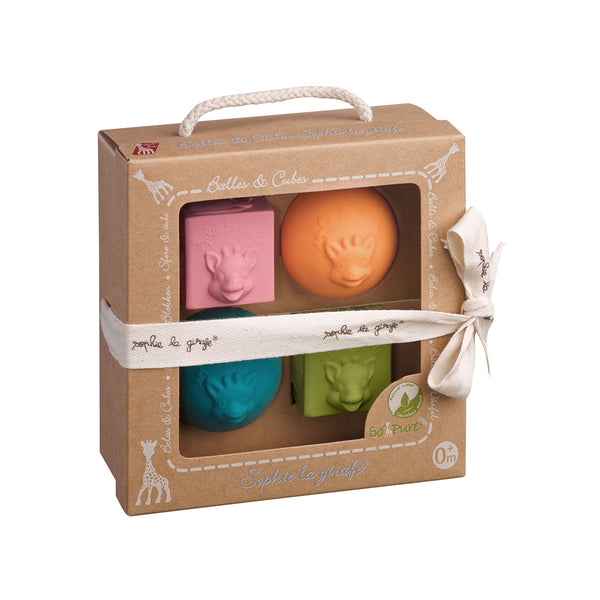 Sophie la girafe So'Pure 2 balls/2 cubes set