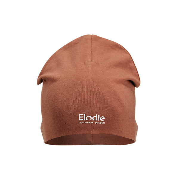 ELODIE DETAILS BURNED CLAY LOGO BEANIE