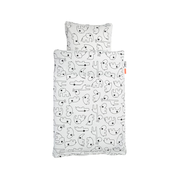 DONE BY DEER CONTOUR BEDLINEN, WHITE