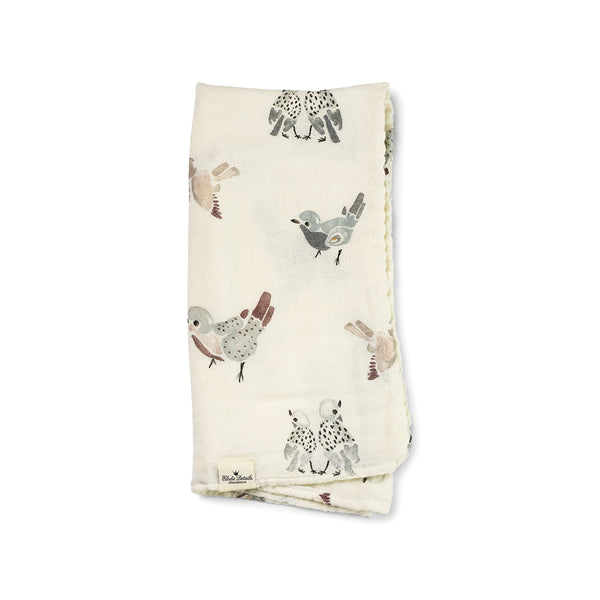 ELODIE DETAILS FEATHERED FRIENDS BAMBOO MUSLIN BLANKET