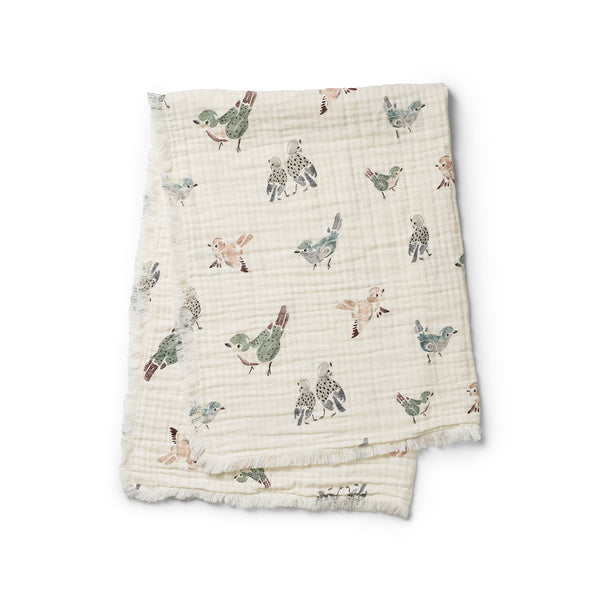 ELODIE DETAILS FEATHERED FRIENDS SOFT COTTON BLANKET