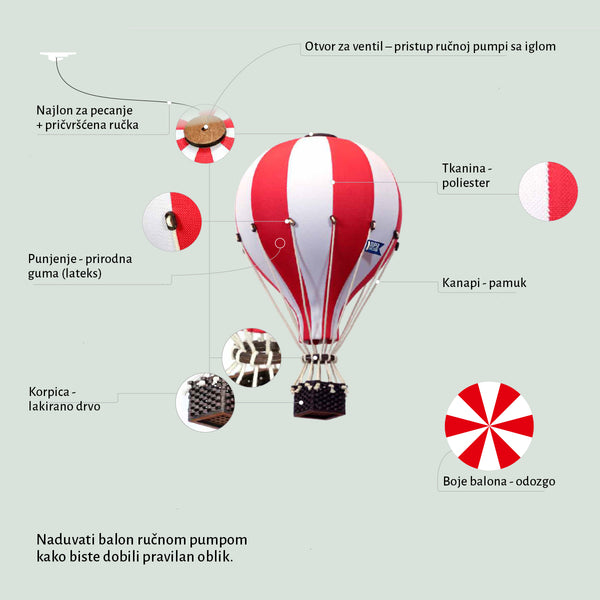 Super Balloon bež/bordo