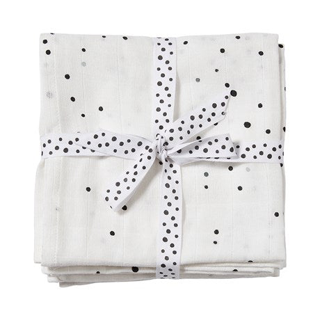 DONE BY DEER DREAMY DOTS SWADDLE 2 PCS, WHITE