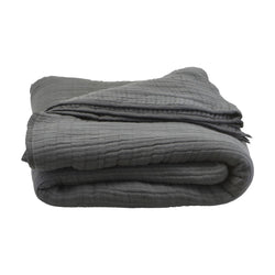 House Doctor Bedspread, Lia, dark grey