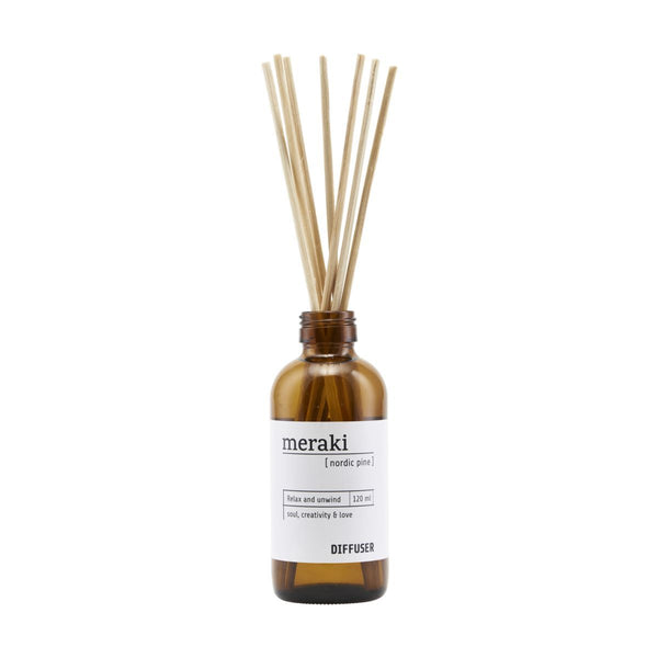 Meraki Diffuser with 7 sticks, Noric Pine