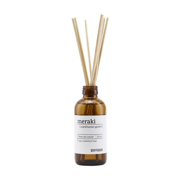 Meraki Diffuser with 7 sticks, Scandinavian Garden
