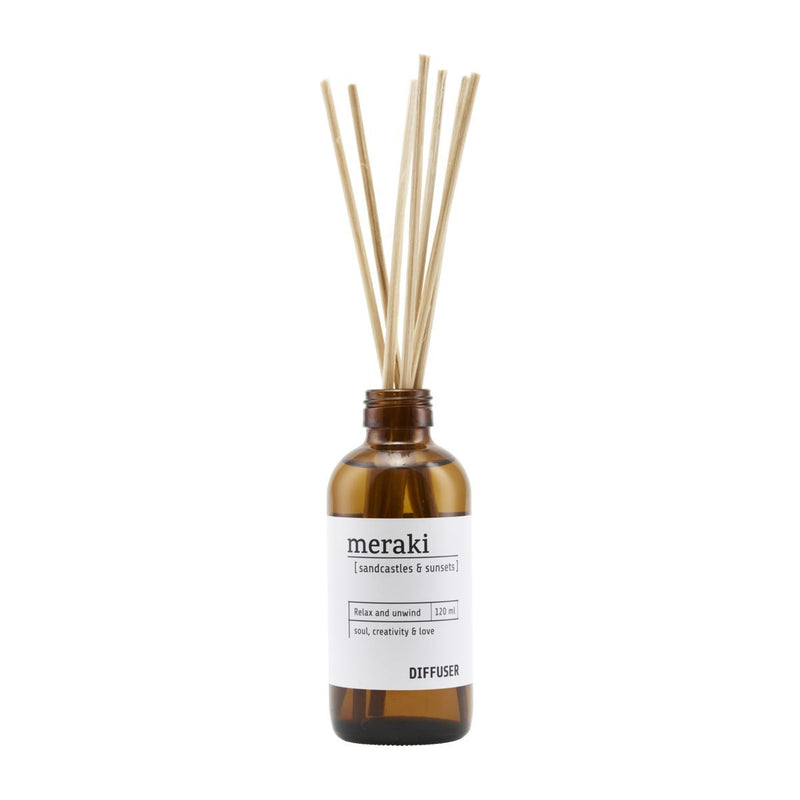 Meraki Diffuser with 7 sticks, Sandcastles & Sunsets