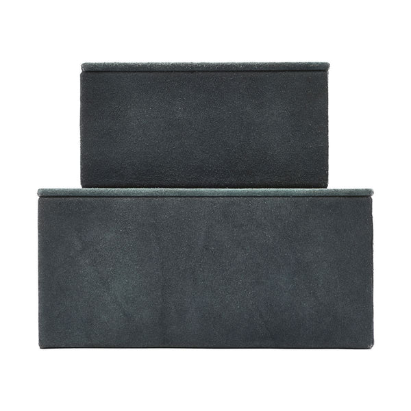House Doctor Storage, Suede, Blue, Set of 2 sizes