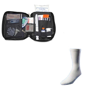 Dia-Pak® Classic Black Insulin Carrying Case and Euro Comfort Sock