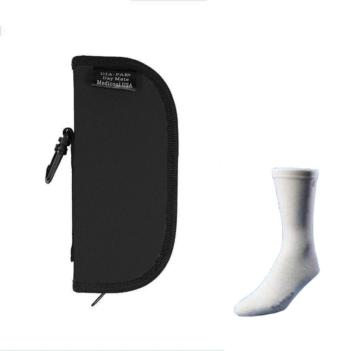 Dia-Pak® Daymate Black Insulin Carrying Case and Euro Comfort Sock