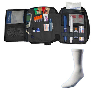 Dia-Pak® Deluxe Black Insulin Carrying Case and Euro Comfort Sock