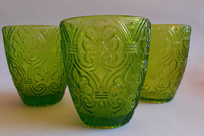 Set 6 Vasos Vidrio Bajo Lis Dining is Divine Verde