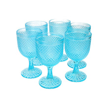 Set 6 Copas Vidrio Dining is Divine Panal  Roja
