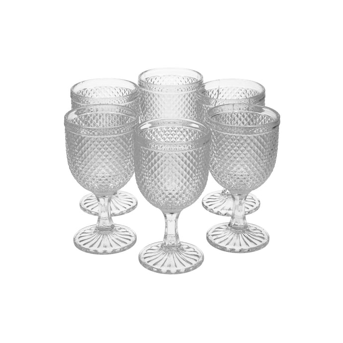 Set 6 Copas Vidrio Dining is Divine Panal Transparente
