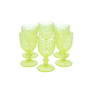 Set 6 Copas Chica Rombos Dining is Divine Verde