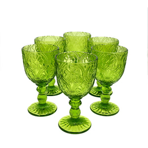 Set 6 Copas Vidrio Lis Dining is Divine Verde