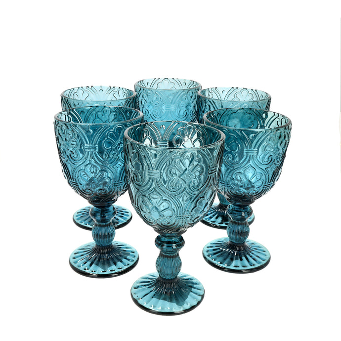 Set 6 Copas Vidrio Lis Dining is Divine Azul