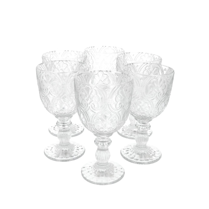 Set 6 Copas Vidrio Lis Dining is Divine Transparente