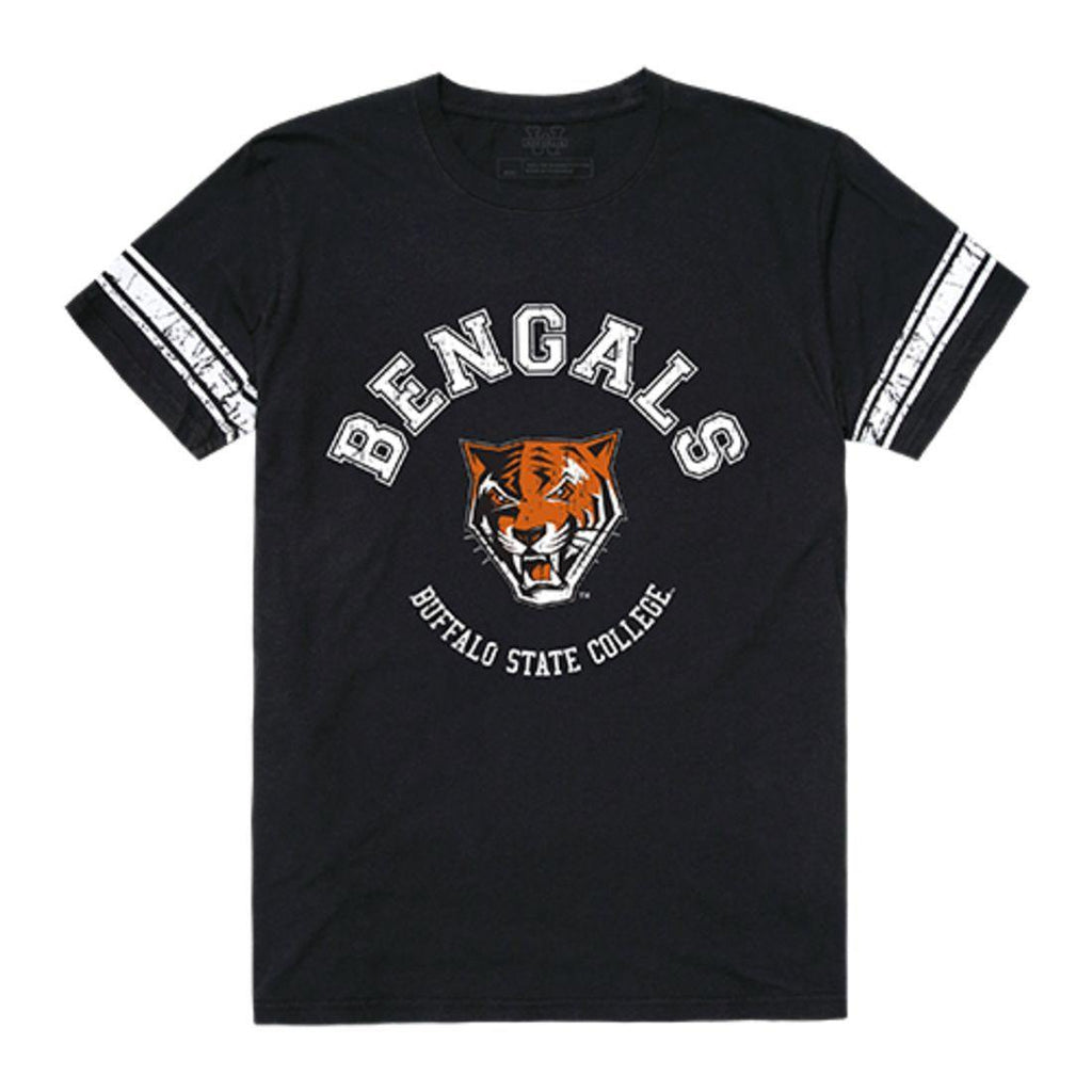 Buffalo State College Bengals Men's Football T-Shirt Black