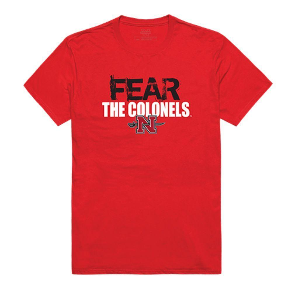 Nicholls State University Colonels NCAA Fear Tee T-Shirt Red