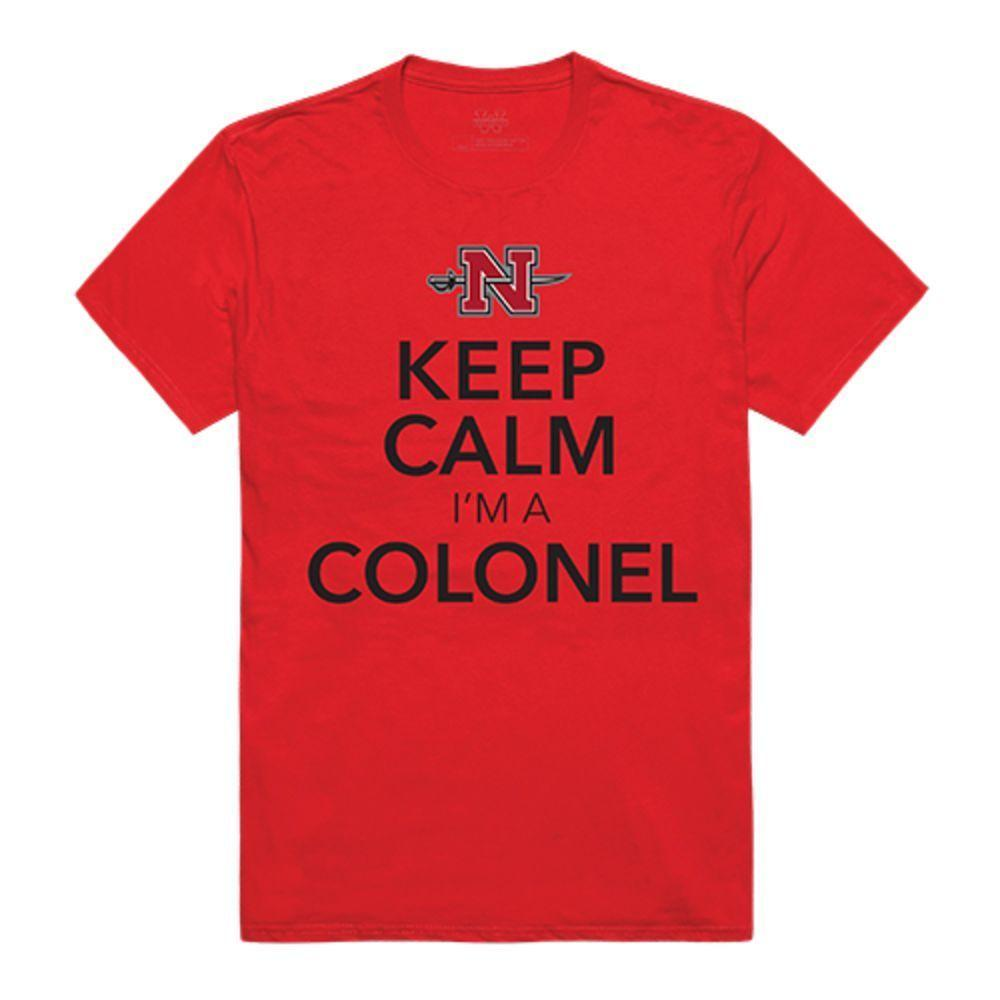 Nicholls State University Colonels NCAA Keep Calm Tee T-Shirt Red