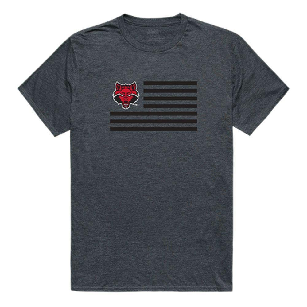 Arkansas State University Red Wolves NCAA Flag Tee T-Shirt