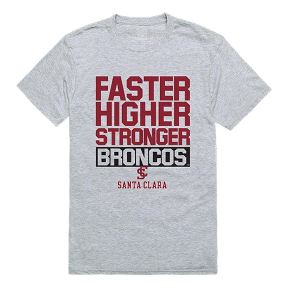Santa Clara University Broncos NCAA Workout Tee T-Shirt