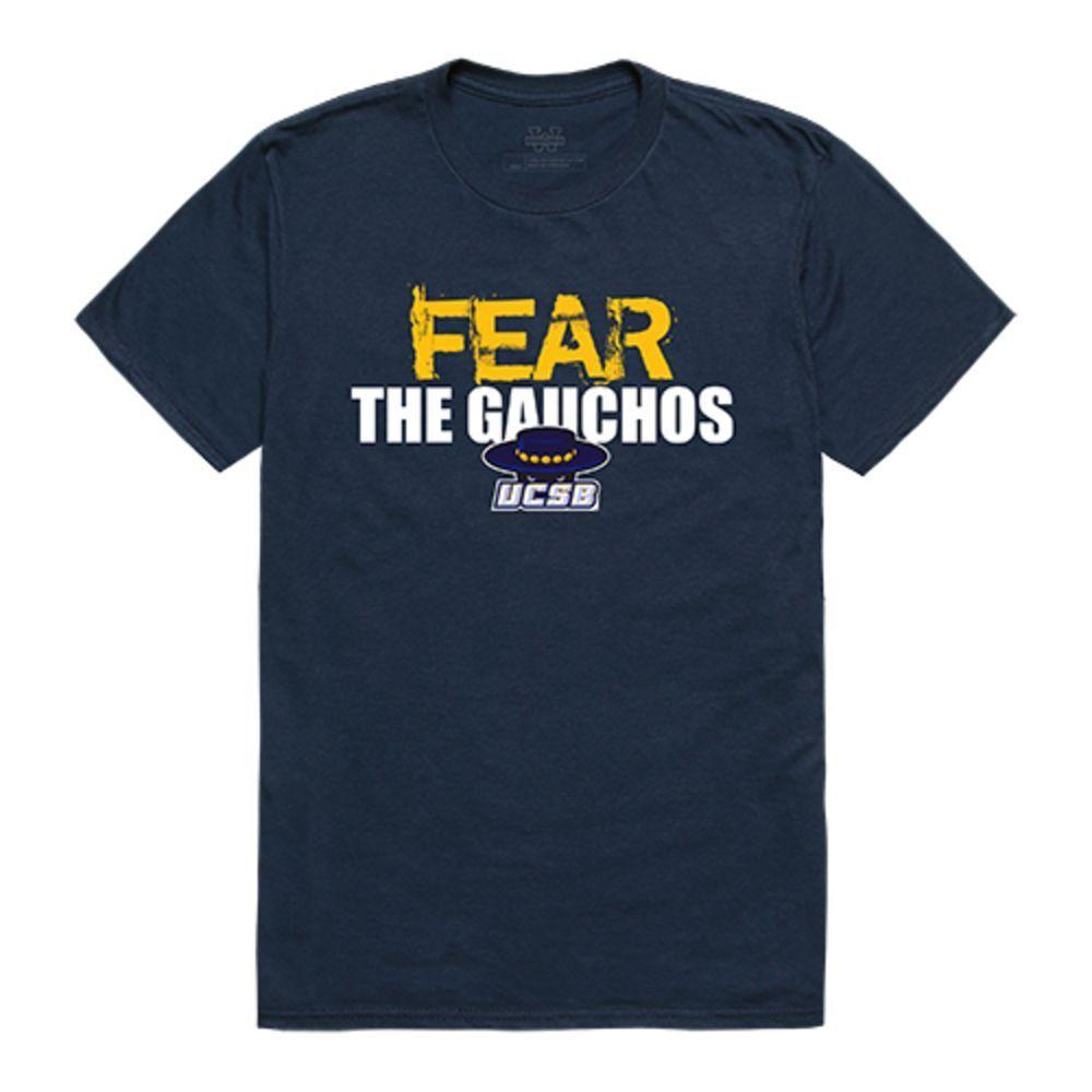 UCSB University of California Santa Barbara Gauchos NCAA Fear Tee T-Shirt