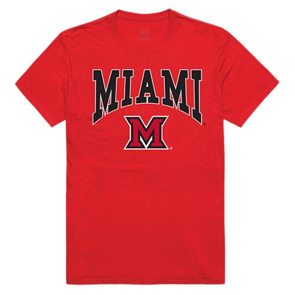 Miami University RedHawks NCAA Athletic Tee T-Shirt Red