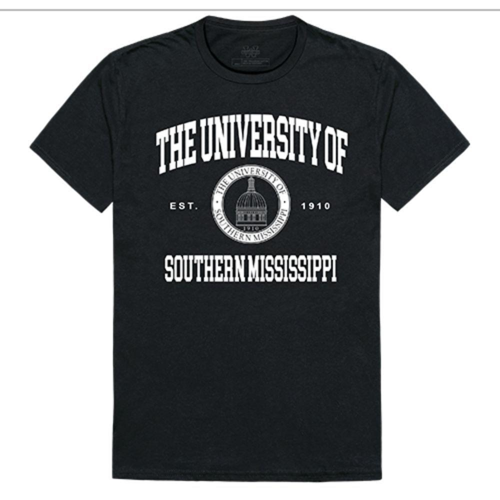 University of Southern Mississippi Golden Eagles NCAA Seal Tee T-Shirt