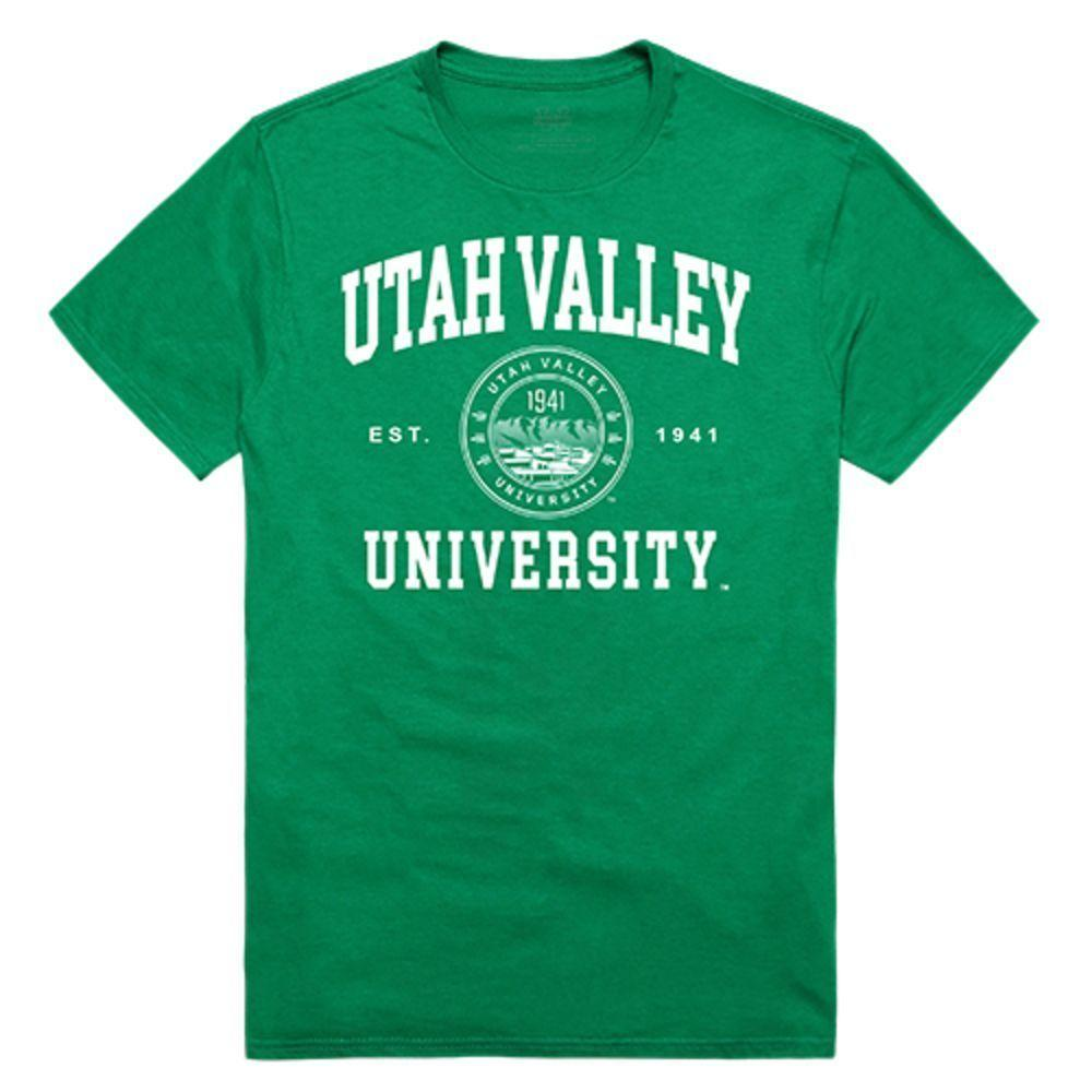Utah Valley University Wolverines NCAA Seal Tee T-Shirt Kelly