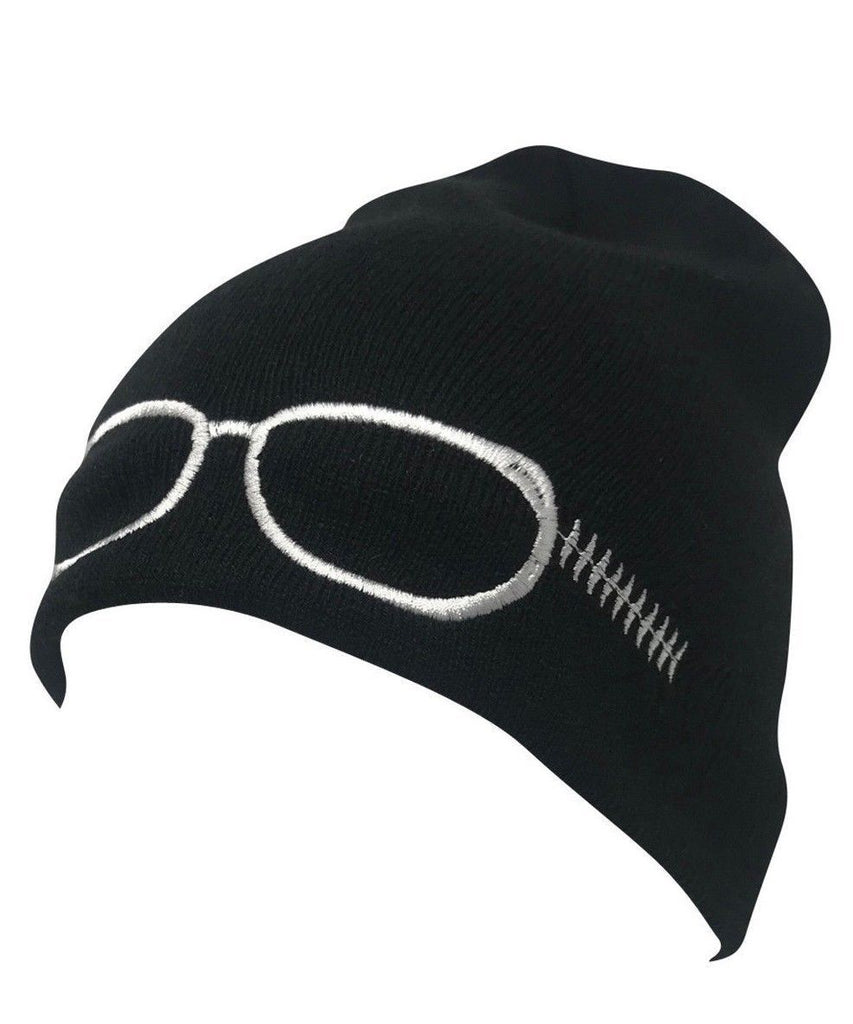 Casaba Warm Winter Beanies Glasses Embroidery Toboggans Caps Hats for Men Women
