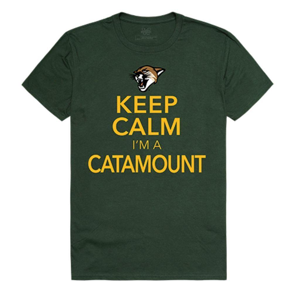 University of Vermont Catamounts NCAA Keep Calm Tee T-Shirt