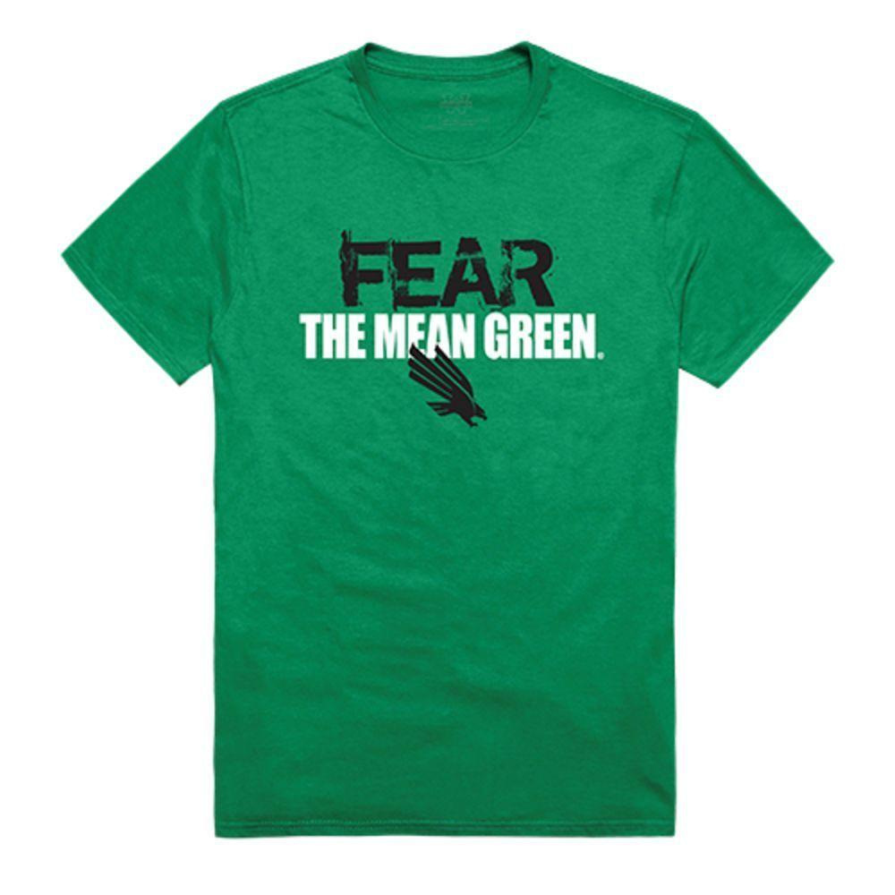 University of North Texas Mean Green NCAA Fear Tee T-Shirt Kelly