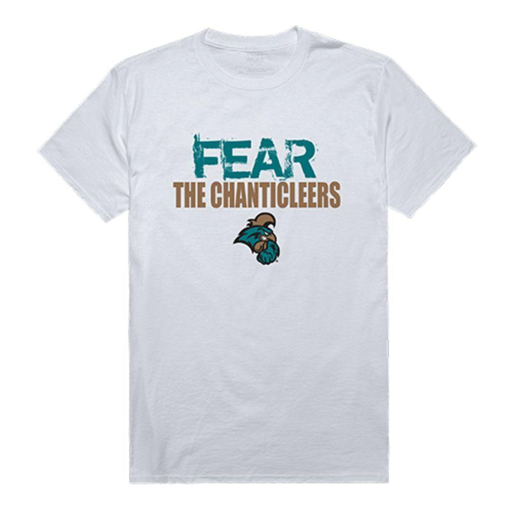 Coastal Carolina University Chanticleers NCAA Fear Tee T-Shirt White