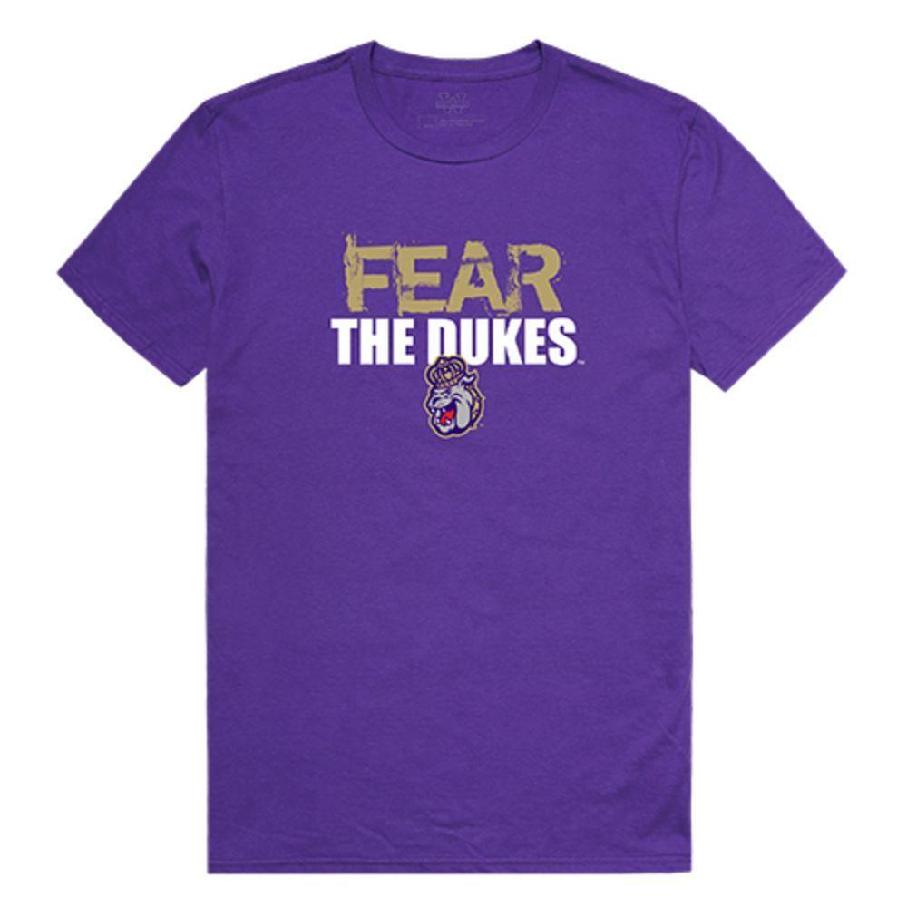 James Madison University Foundation Dukes NCAA Fear Tee T-Shirt Purple