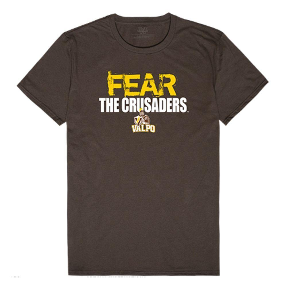 Valparaiso University Crusaders NCAA Fear Tee T-Shirt Brown