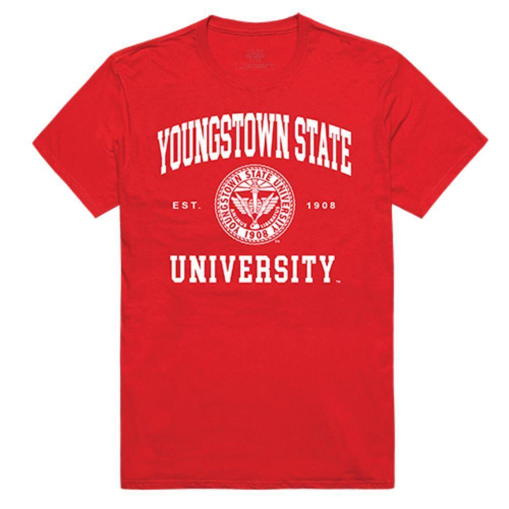 Youngstown State University Penguins NCAA Seal Tee T-Shirt Red
