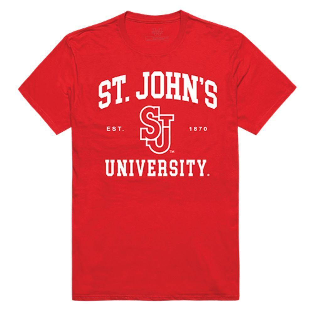 St. John's University Red Storm NCAA Seal Tee T-Shirt Red