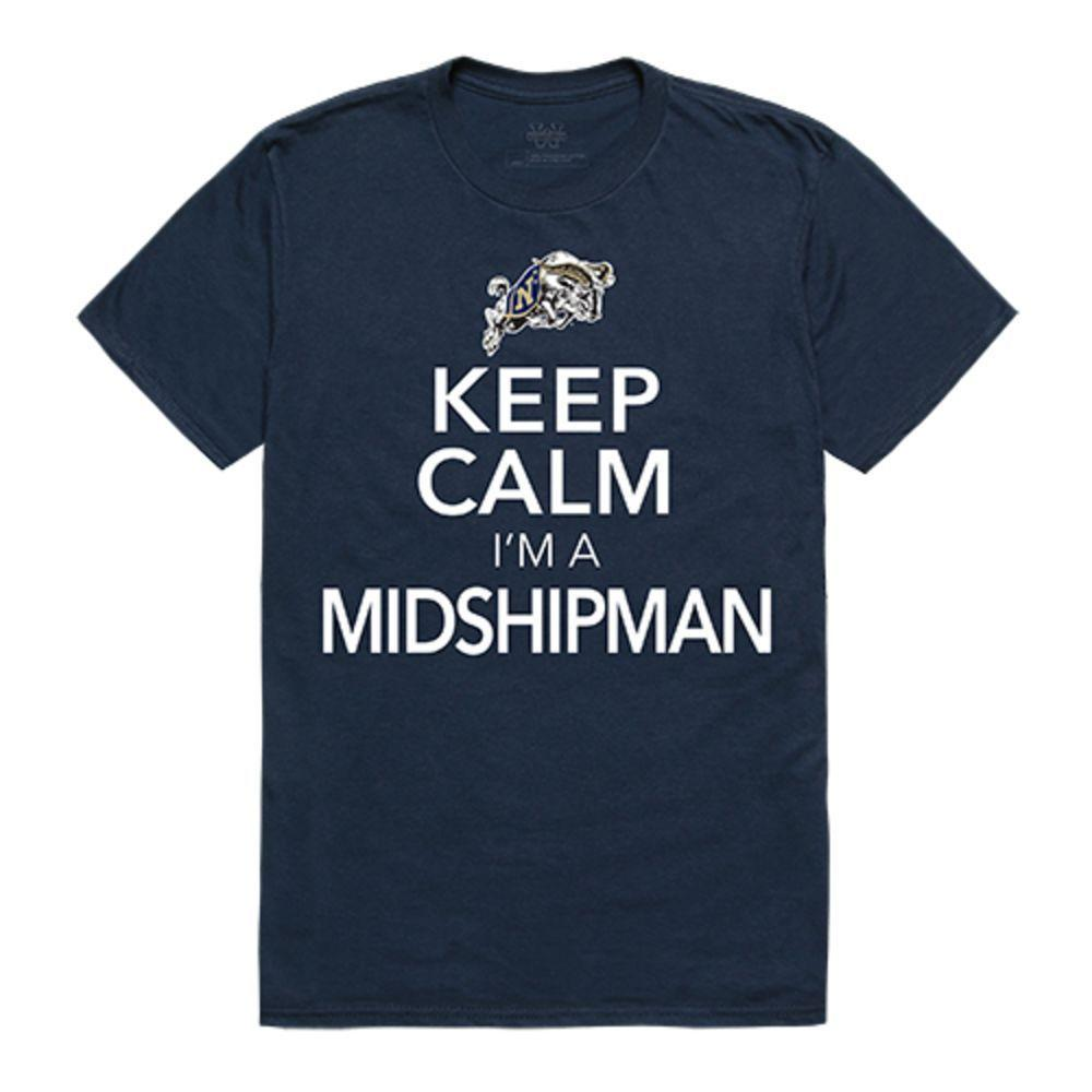 United States Naval Academy Midshipmen NCAA Keep Calm Tee T-Shirt