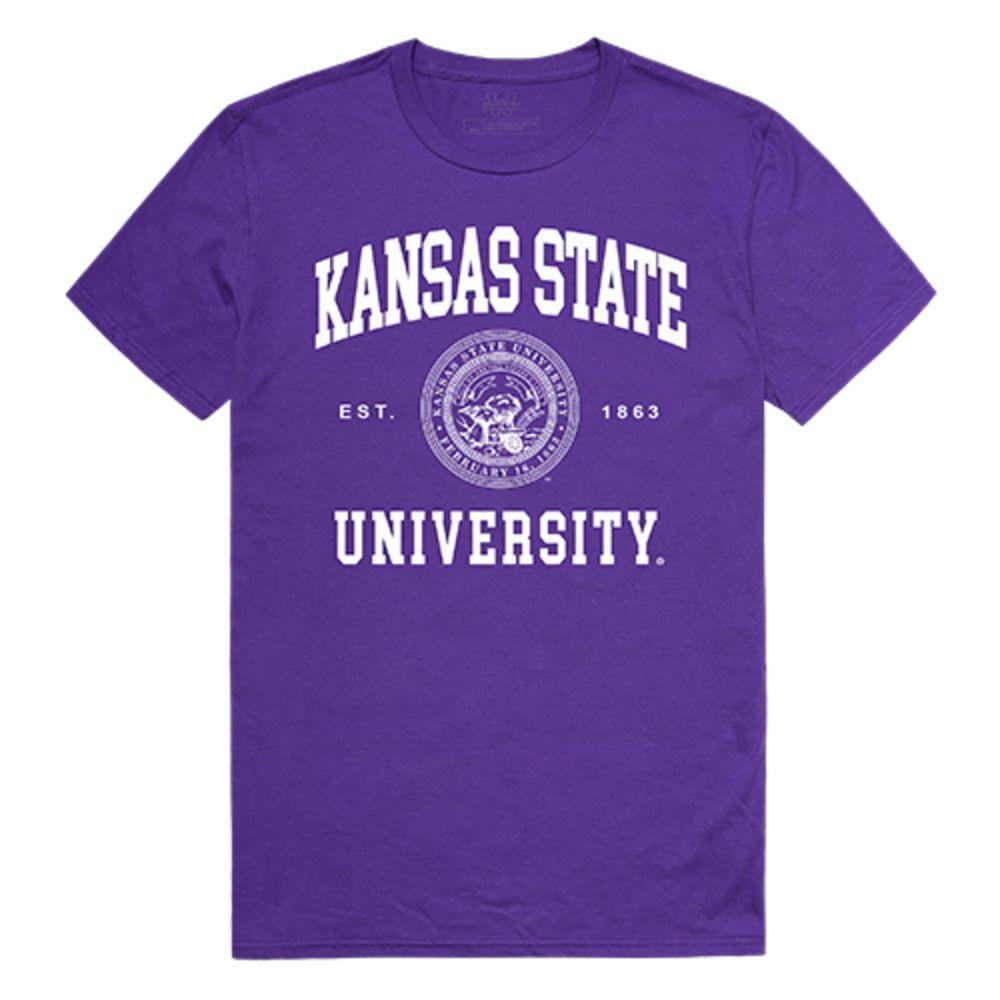 Kansas State University Wildcats NCAA Seal Tee T-Shirt Purple