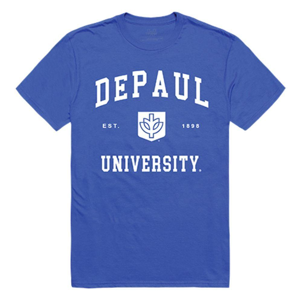 DePaul University Blue Demons NCAA Seal Tee T-Shirt Royal