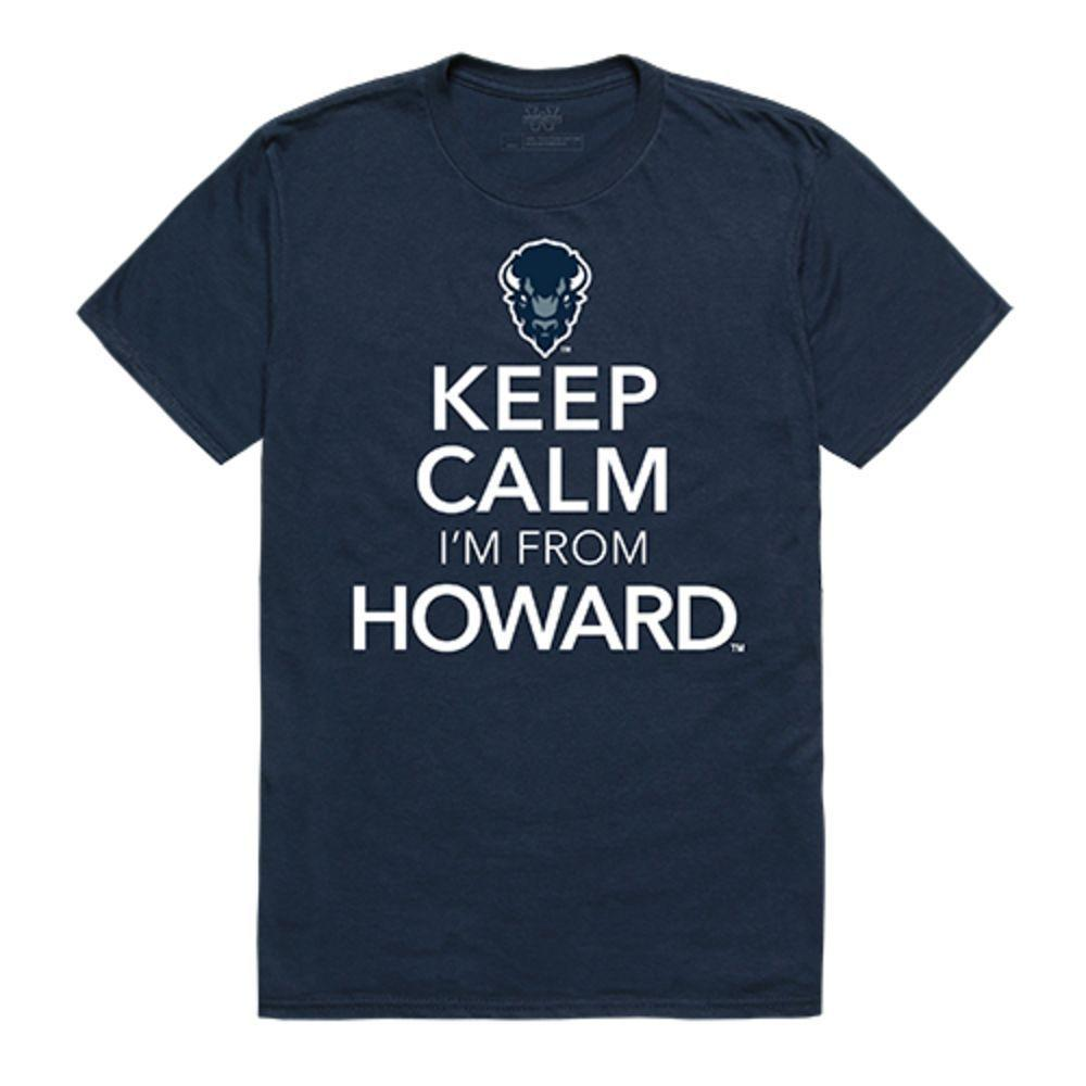 Howard University Bison NCAA Keep Calm Tee T-Shirt