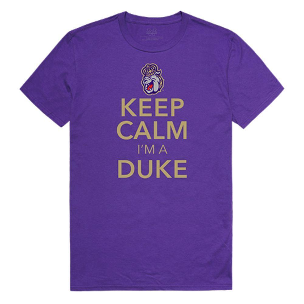 James Madison University Foundation Dukes NCAA Keep Calm Tee T-Shirt Purple