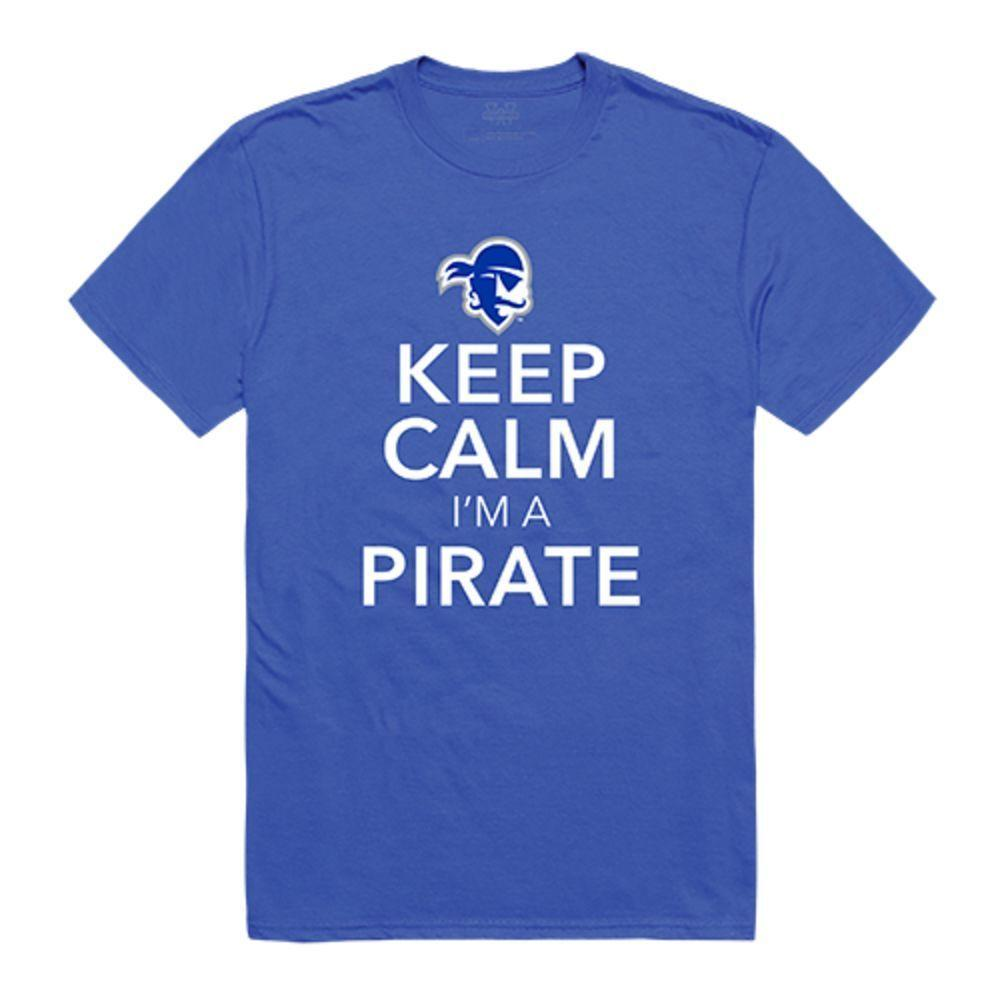 Seton Hall University Pirates NCAA Keep Calm Tee T-Shirt Royal