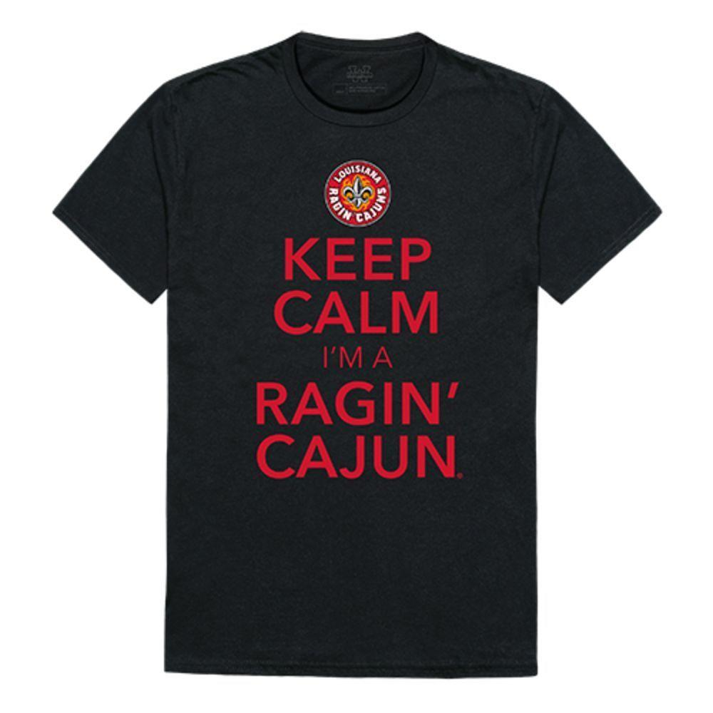 University of Louisiana at Lafayette Ragin' Cajuns NCAA Keep Calm Tee T-Shirt