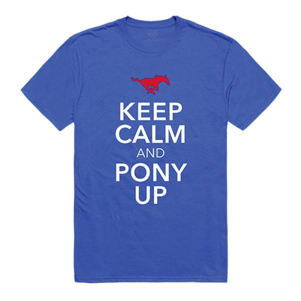 Southern Methodist University Mustangs NCAA Keep Calm Tee T-Shirt Royal
