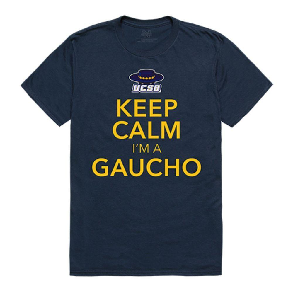 UCSB University of California Santa Barbara Gauchos NCAA Keep Calm Tee T-Shirt