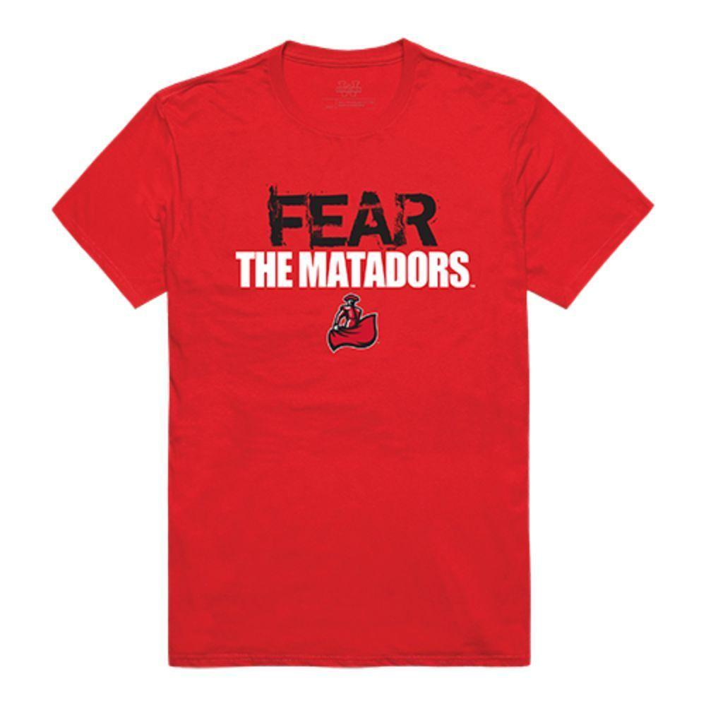 CSUN California State University Northridge Matadors NCAA Fear Tee T-Shirt Red