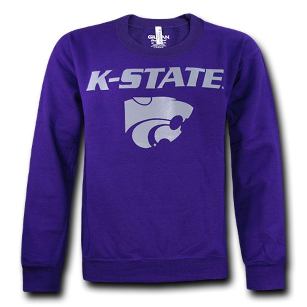 Kansas State University Wildcats NCAA College Crewneck Pullover Sweater Sweatshirt Purple